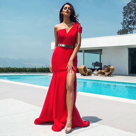 Nicole Bakti 6736 One Shoulder Gown