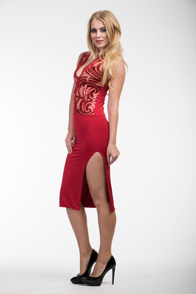 A Perfect Vision Red Savee Couture Dress