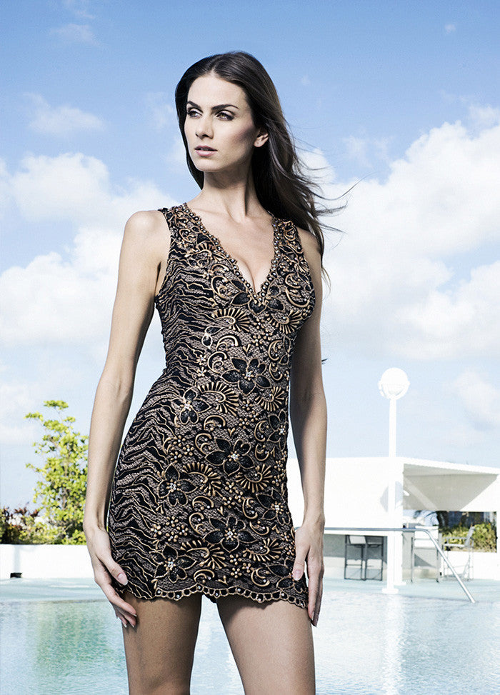 Cristy Painted Short Dress Baccio Couture