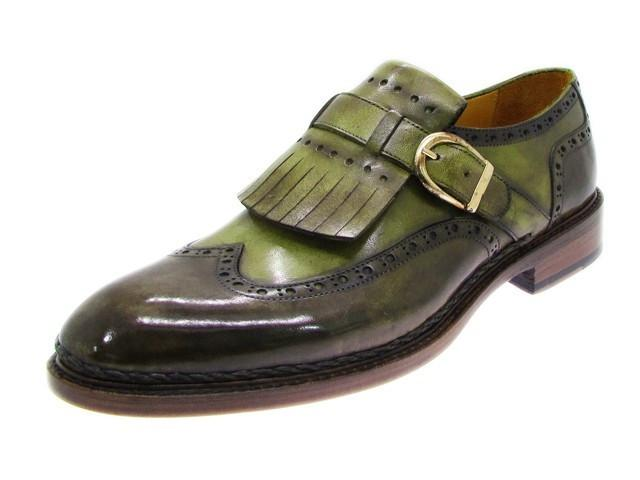 Brogues Green Paul Parkman Monkstrap Shoes