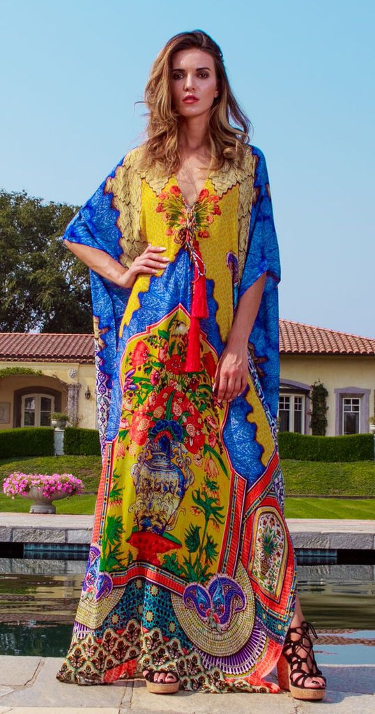Porcelain Dream Shahida Parides Kaftan Dress