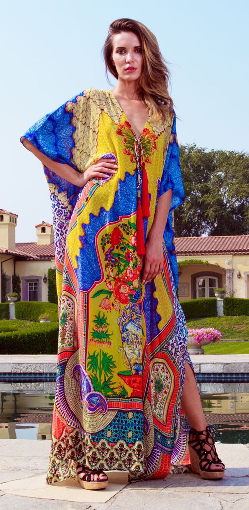 Lemon Drop Shahida Parides Kaftan Dress