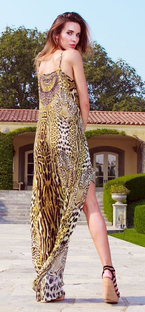 Leopard Print Shahida Parides Hi Low Dress