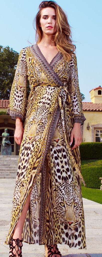Leopard Print Shahida Parides Wrap Dress