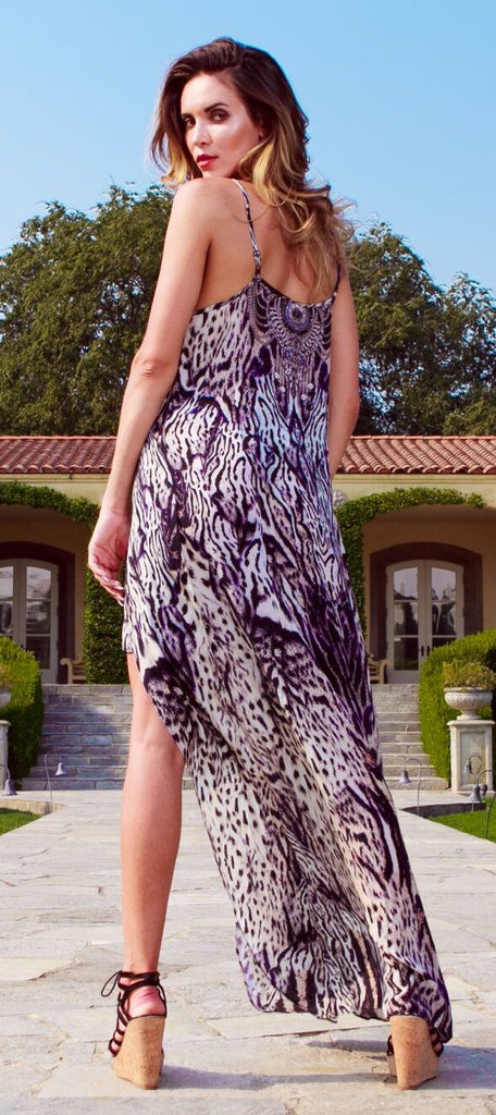 Animal Print Shahida Parides Hi Low Dress