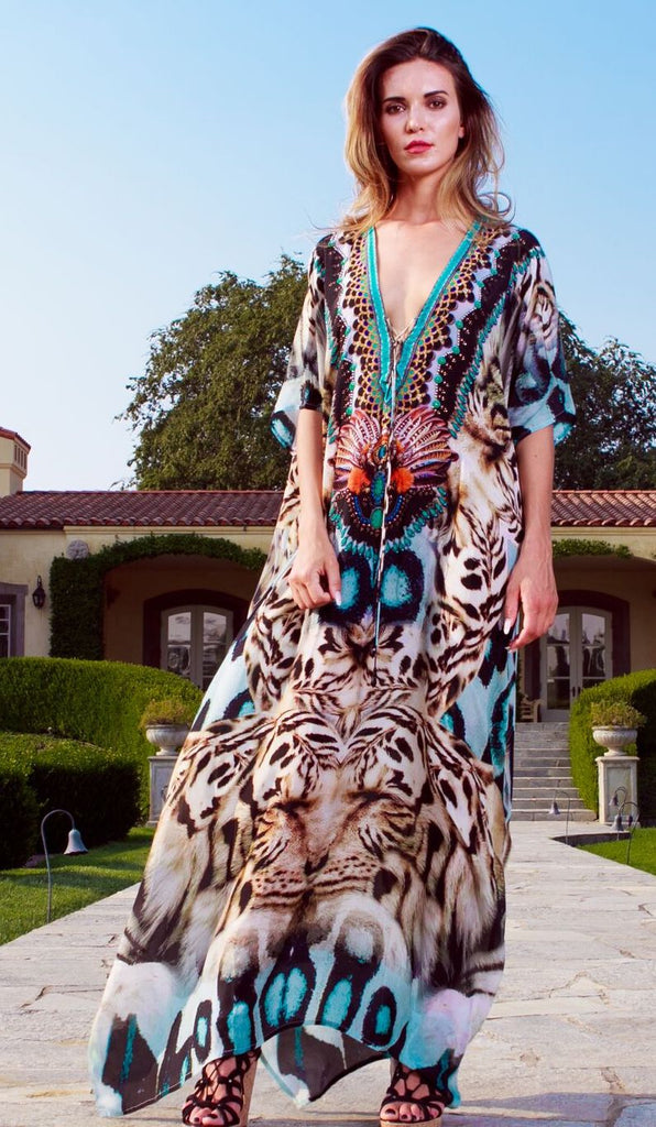White Tiger Shahida Parides Kaftan Dress