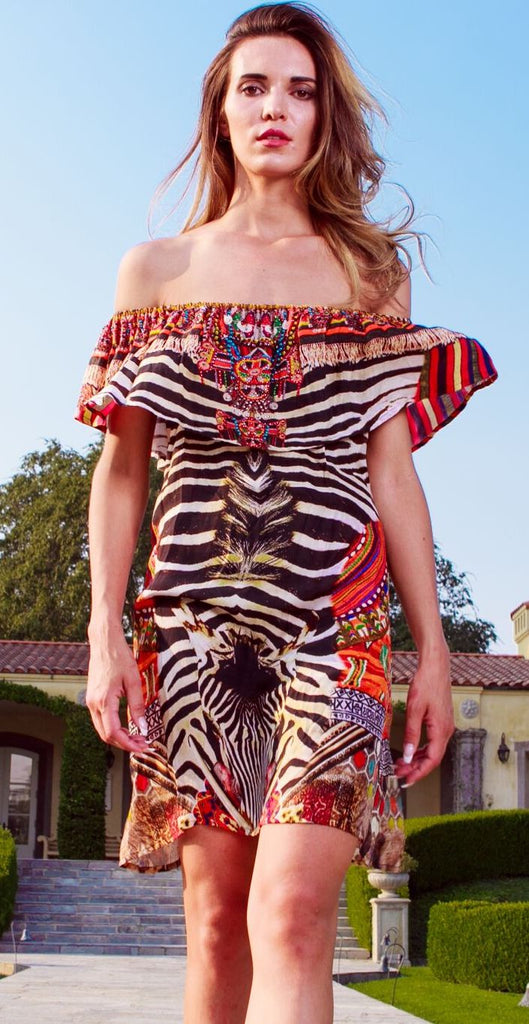 Shahida Parides Off Shoulder Short Dress