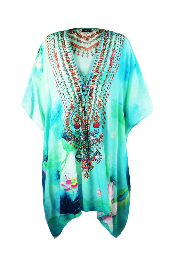 Lotus Flower Kaftan Tunic Shahida Parides Dress