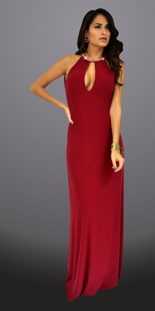 Karess Red Donatella Maxi Dress