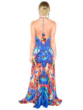 3 Way Blue Print Shahida Parides Maxi Dress