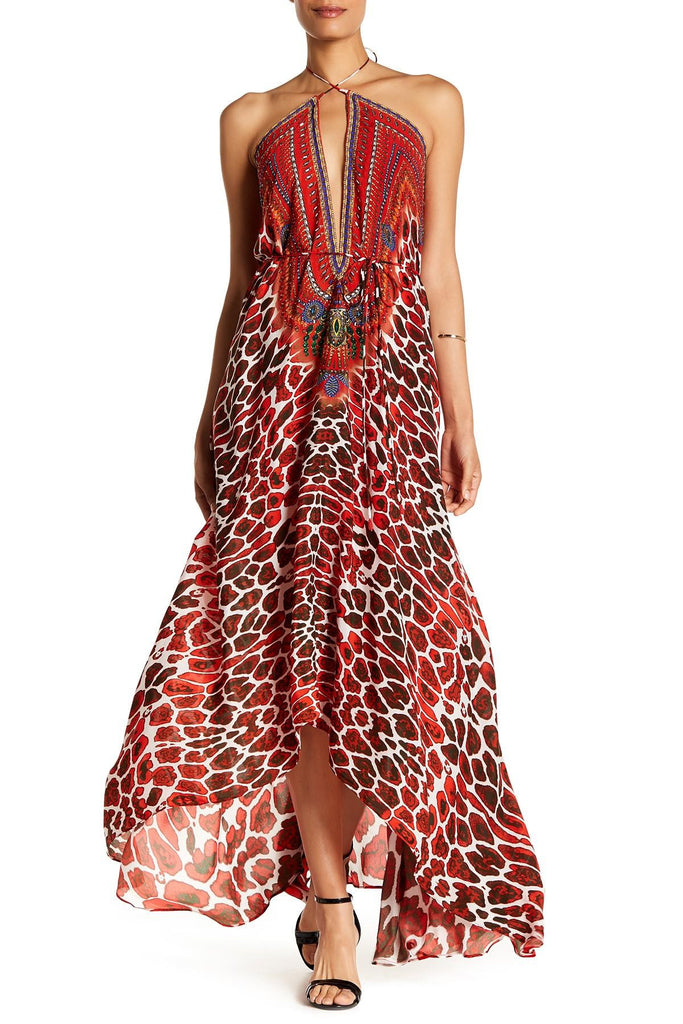 Jaguar Poinsettia Shahida Parides 3 Way Dress
