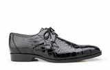 Lago Black Alligator Belvedere Shoes