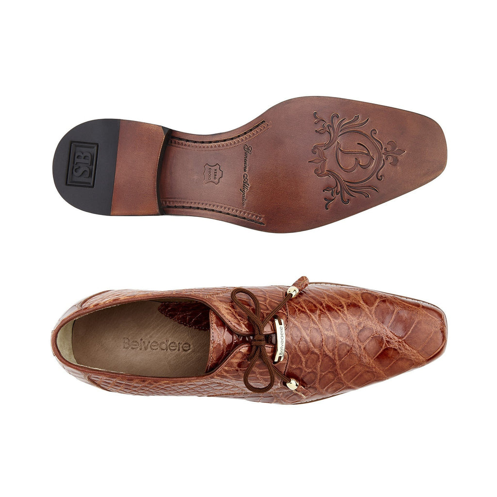 Lago Cognac Alligator Belvedere Shoes