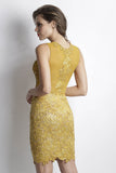 Damet Gold Baccio Couture Dress