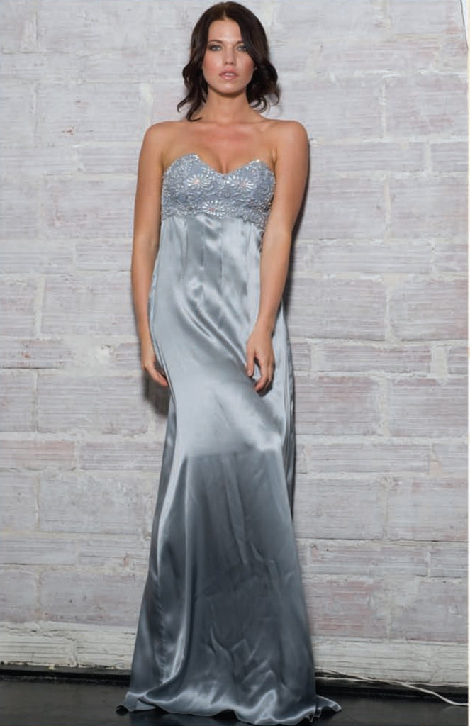 Lulu Silk Long Dress Baccio Couture
