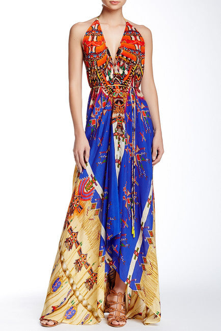 3 Way Navajo Pottery Parides Maxi Dress