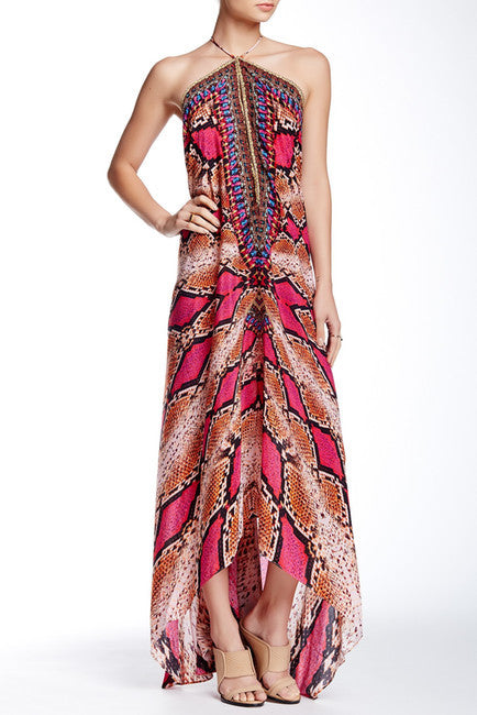 3 Way Python Print Parides Maxi Dress