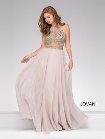 JOVANI 46609 MERMAID VELVET DRESS