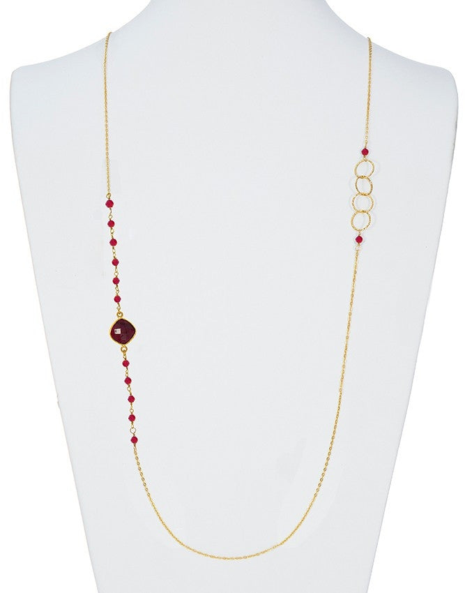 NLG-78-RU Gemstone Necklace Charlene K Jewelry
