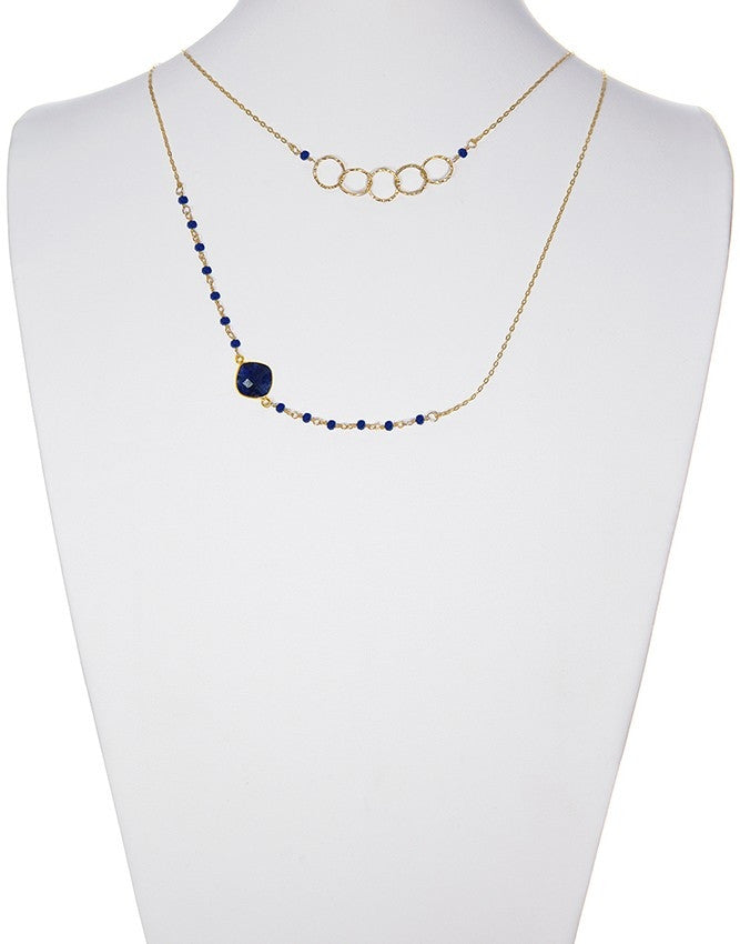 NLG-78-SA Gemstone Necklace Charlene K Jewelry
