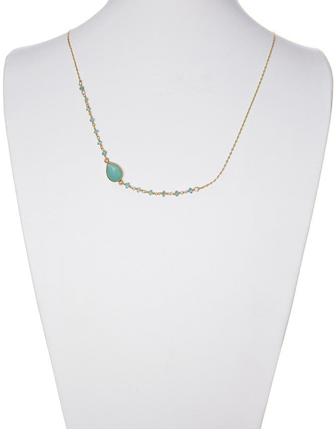 NSG-78-AQCH Gemstone Necklace Charlene K Jewelry