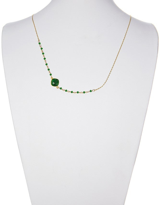 NSG-78-EM Gemstone Necklace Charlene K Jewelry