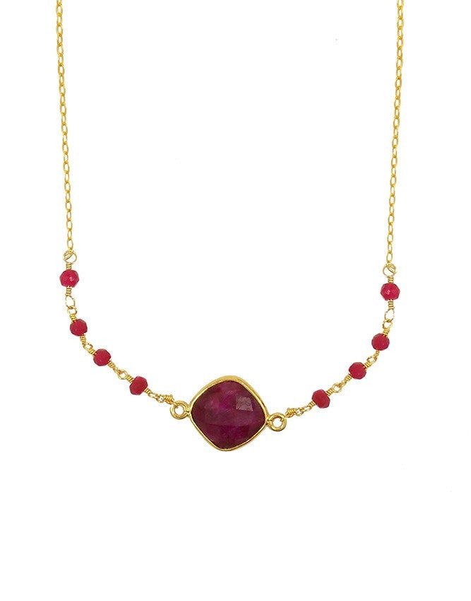 NSG-78-RU Gemstone Necklace Charlene K Jewelry