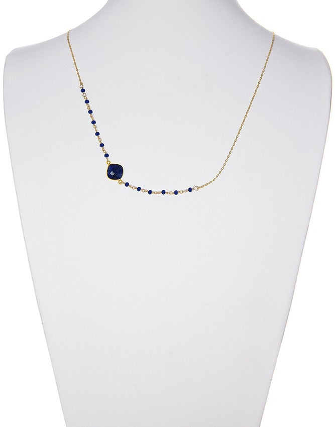 NSG-78-SA Gemstone Necklace Charlene K Jewelry