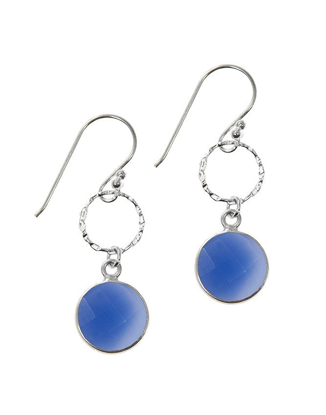EG10-1-BLCH Gemstone In Sterling Silver Earrings Charlene K Jewelry