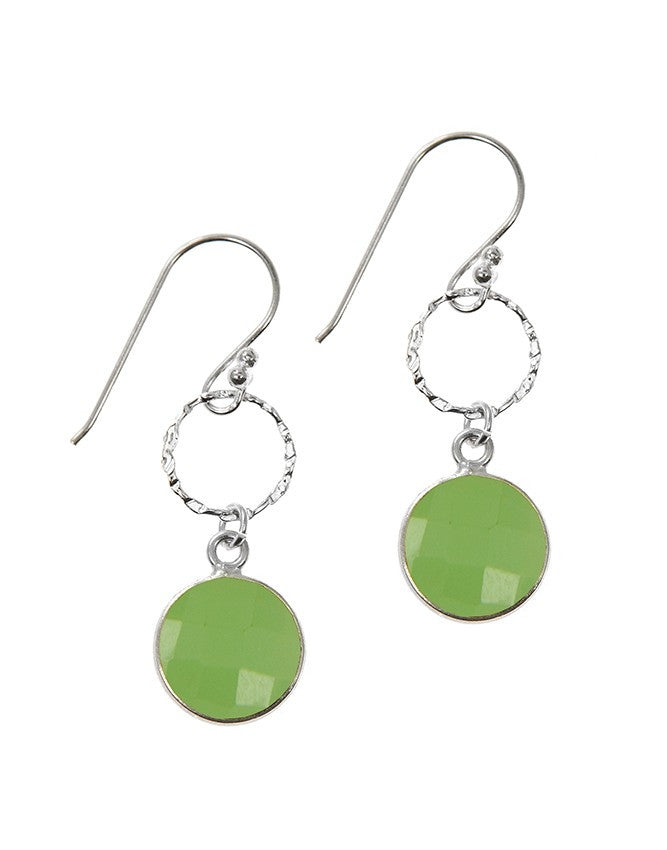 EG10-1-GRCH Gemstone In Sterling Silver Earrings Charlene K Jewelry