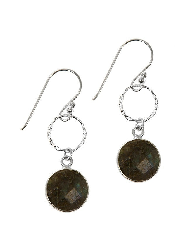 EG10-1-LAB Gemstone In Sterling Silver Earrings Charlene K Jewelry