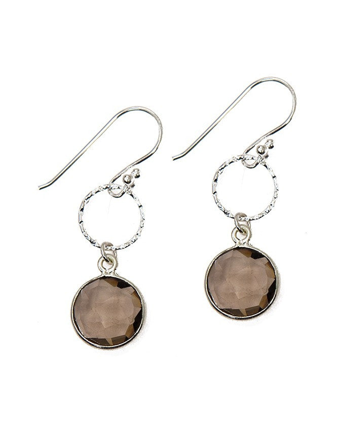EG10-1-SQ Gemstone In Sterling Silver Earrings Charlene K Jewelry