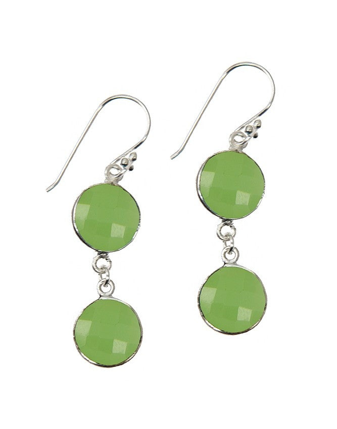 EG10-2-GRCH Gemstone In Sterling Silver Earrings Charlene K Jewelry