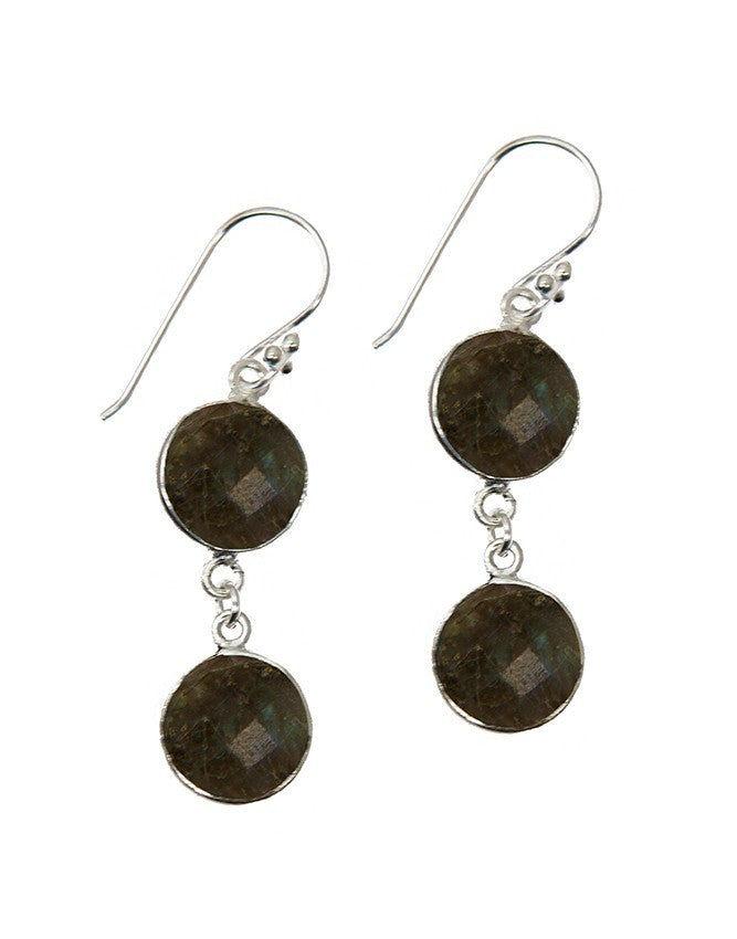 EG10-2-LAB Gemstone In Sterling Silver Earrings Charlene K Jewelry