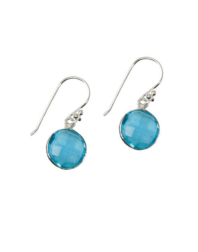 EG10-AQQU Gemstone In Sterling Silver Earrings Charlene K Jewelry