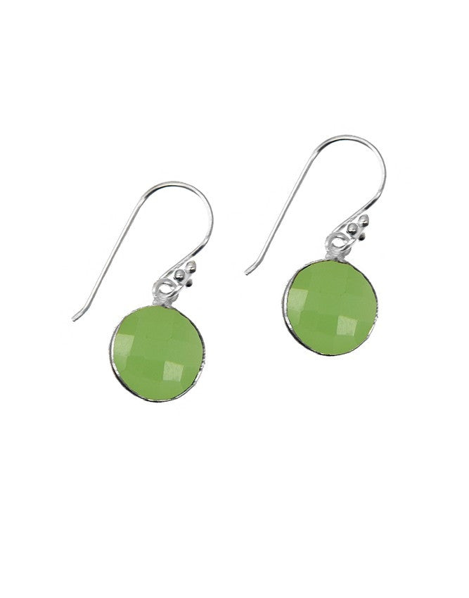 EG10-GRCH Gemstone In Sterling Silver Earrings Charlene K Jewelry