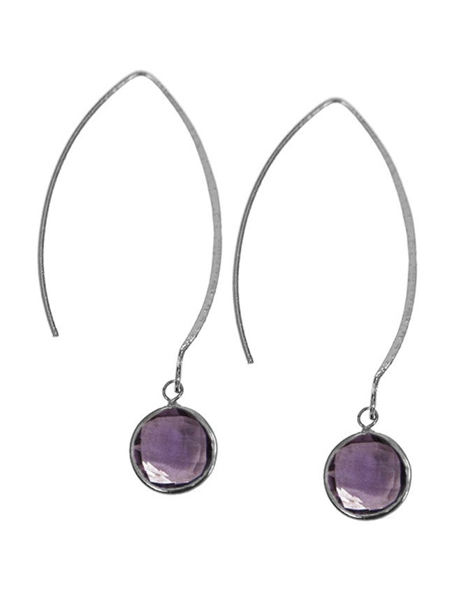 EGOH-1-AM Gemstone In Sterling Silver Earrings Charlene K Jewelry