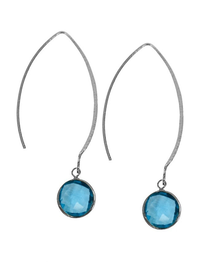 EGOH-1-AQQU Gemstone In Sterling Silver Earrings Charlene K Jewelry