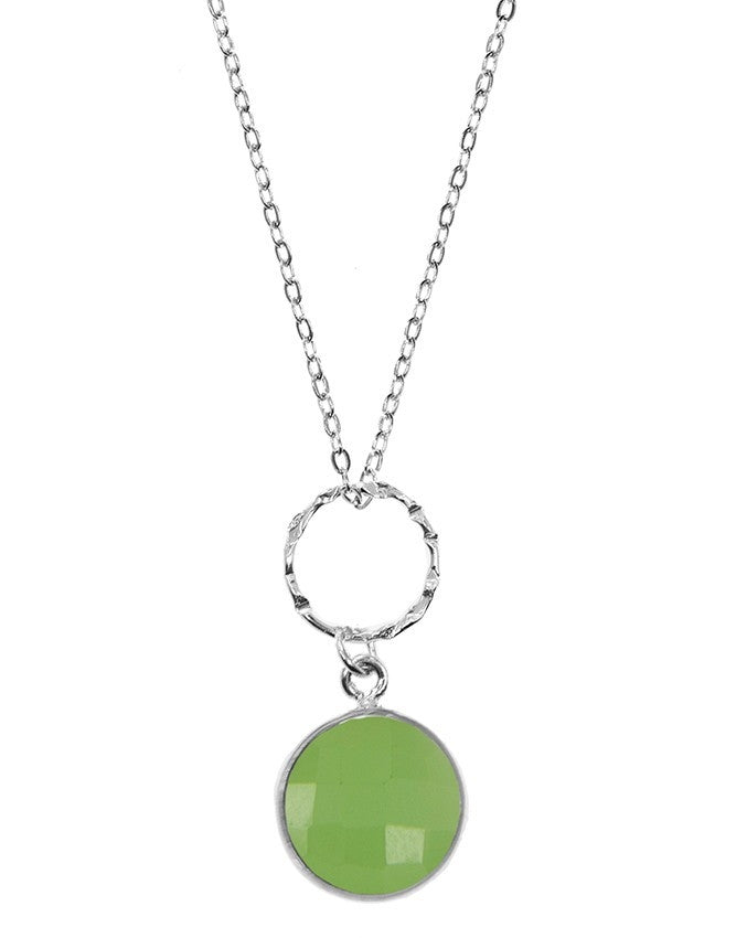 PG10-1-GRCH Gemstone In Sterling Silver Pendant Charlene K Jewelry