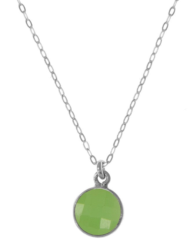 PG10-GRCH Gemstone In Sterling Silver Pendant Charlene K Jewelry
