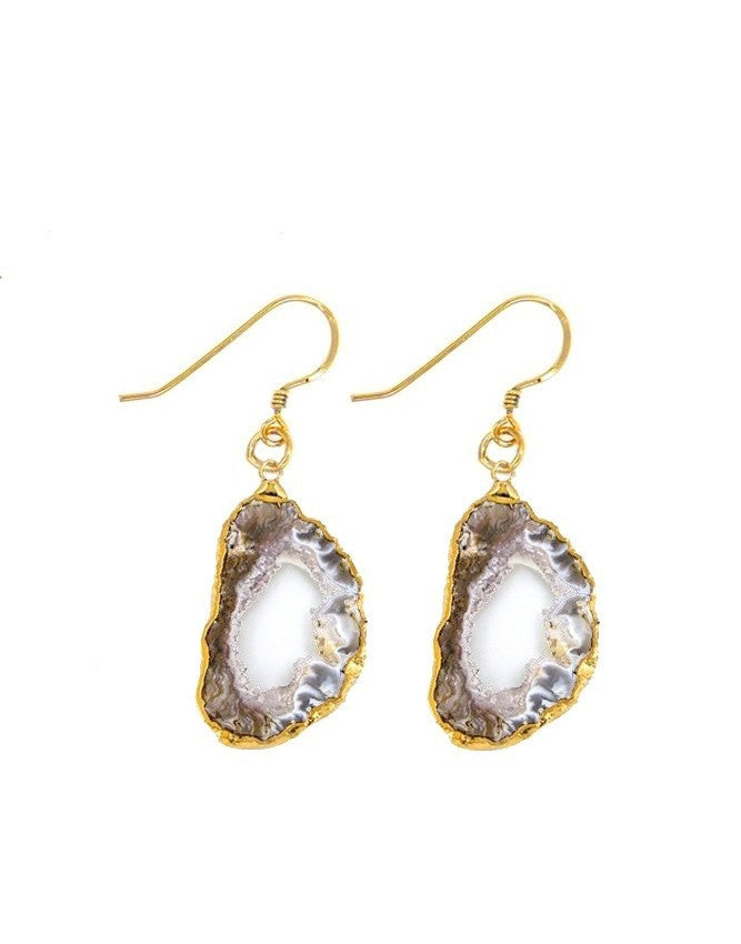 EGEO-S-BR Geode Collection Earrings Charlene K Jewelry