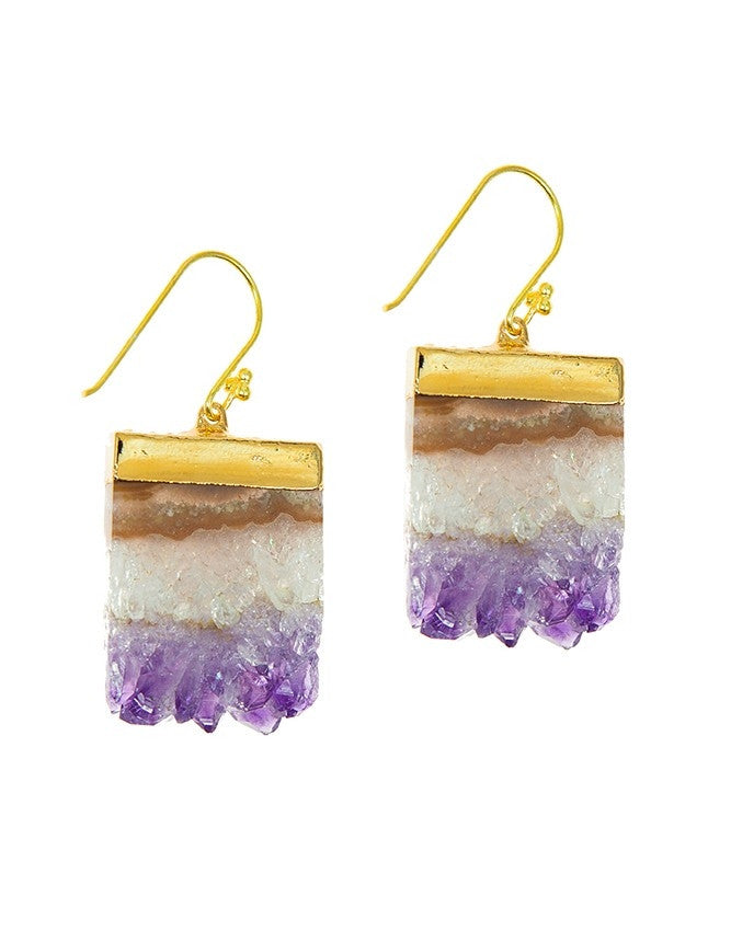 EGS-AM Geode Collection Earrings Charlene K Jewelry