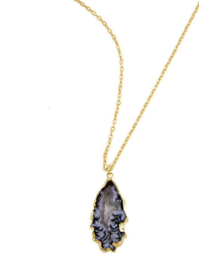 PGEO-S-GR Geode Collection Pendant Charlene K Jewelry
