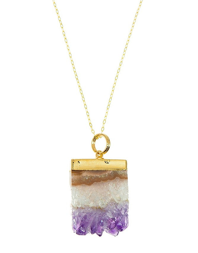 PGS-AM Geode Collection Pendant Charlene K Jewelry