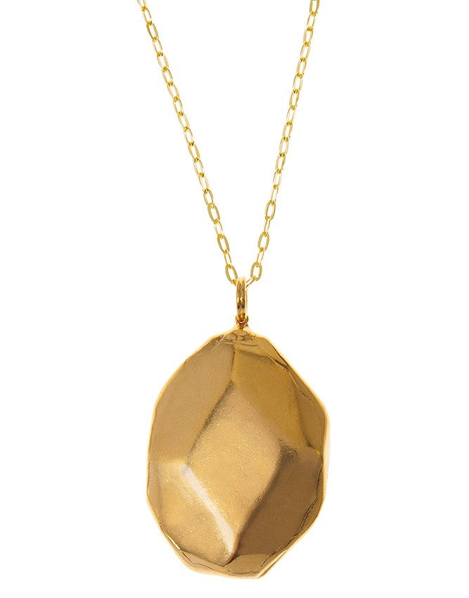 PG35-Gold Large Gemstone Pendant Charlene K Jewelry