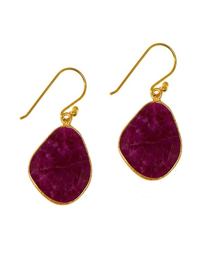 EG3-RU Ruby-Sapphire-Emerald Earrings Charlene K Jewelry
