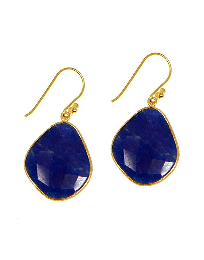 EG3-SA Ruby-Sapphire-Emerald Earrings Charlene K Jewelry