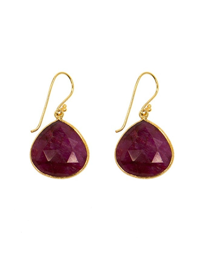 EGT1-Ru Ruby-Sapphire-Emerald Earrings Charlene K Jewelry
