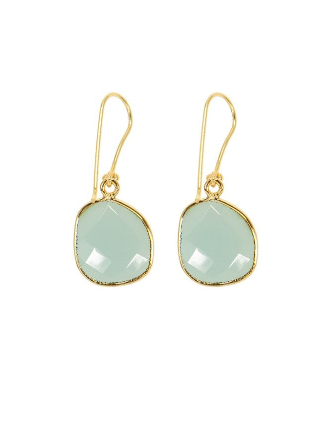 EG38-AQCH Organic Faceted Gems Earrings Charlene K Jewelry