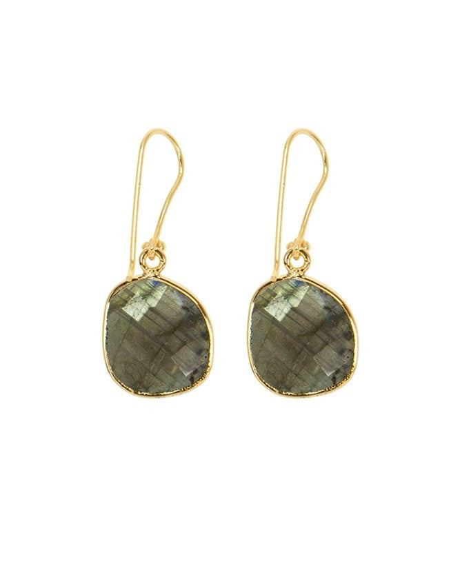 EG38-LAB Organic Faceted Gems Earrings Charlene K Jewelry
